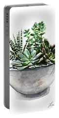 Succulent Arrangement In Modern Planter Portable Battery Charger