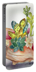 Succulents In Shell Portable Battery Charger