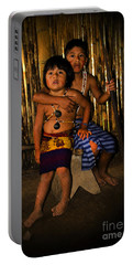 Portable Battery Charger featuring the photograph Sucua Kids 901 by Al Bourassa