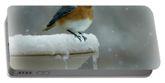 Suddenly Winter Portable Battery Charger by Barbara S Nickerson