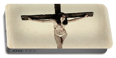 Suffering Of A Woman On Cross Portable Battery Charger