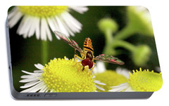 Portable Battery Charger featuring the photograph Sugar Bee Wings by Meta Gatschenberger