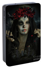 Portable Battery Charger featuring the digital art Sugar Doll Magic by Shanina Conway