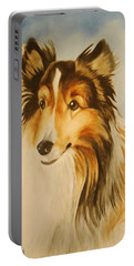 Portable Battery Charger featuring the painting Sugar by Marilyn Jacobson