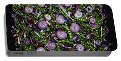 Sugar Snap Peas And Red Onion Mix Portable Battery Charger