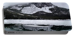 Sugarloaf Hill Reflections In Winter Portable Battery Charger by Barbara Griffin