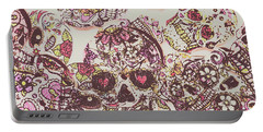 Sugarskull Punk Patchwork Portable Battery Charger