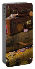 Suitcases With Seashells Portable Battery Charger