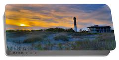 Sullivan's Island Lighthouse At Dusk - Sullivan's Island Sc Portable Battery Charger