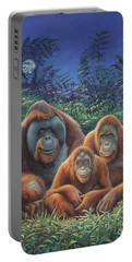 Sumatra Orangutans Portable Battery Charger by Hans Droog