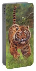 Sumatran Tiger Running Portable Battery Charger