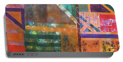 Portable Battery Charger featuring the mixed media Summer Abstract by Riana Van Staden