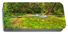 Portable Battery Charger featuring the photograph Summer At Alley Springs by John M Bailey