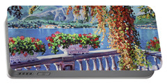 Summer At Lake Como Portable Battery Charger