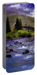 Portable Battery Charger featuring the photograph Summer At The Animas River by Ellen Heaverlo