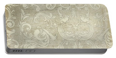 Summer At The Cottage - Vintage Style Wooden Scroll Flourishes Portable Battery Charger