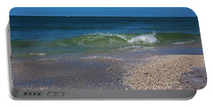 Portable Battery Charger featuring the photograph Summer At The Shore by Michiale Schneider
