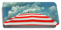 Portable Battery Charger featuring the photograph Summer Beach Sky by Deborah Smith