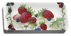 Summer Berries Portable Battery Charger