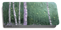 Summer Birch Trees Portable Battery Charger
