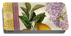 Summer Citrus Lemon Portable Battery Charger by Mindy Sommers