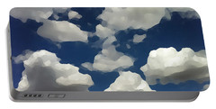 Summer Clouds In A Blue Sky Portable Battery Charger