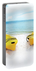 Portable Battery Charger featuring the photograph Summer Colors On The Beach by Shelby Young