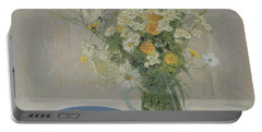 Summer Daisies And Lemons Portable Battery Charger