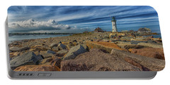 Summer Day At Scituate Lighthouse Portable Battery Charger by Brian MacLean