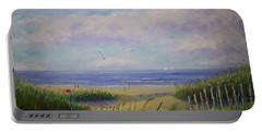 Summer Day At The Beach Portable Battery Charger