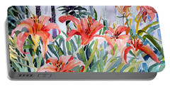 My Summer Day Liliies Portable Battery Charger