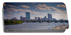 Summer Day On The Charles River Portable Battery Charger