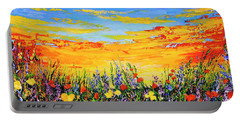 Portable Battery Charger featuring the painting Summer Dream by Teresa Wegrzyn