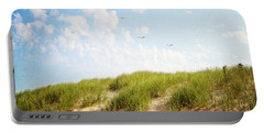 Portable Battery Charger featuring the photograph Summer Dunes by Melanie Alexandra Price