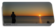 Portable Battery Charger featuring the photograph Summer Evening By The Coast by Kennerth and Birgitta Kullman