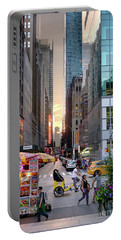 Summer Evening, New York City  -17705-17711 Portable Battery Charger by John Bald