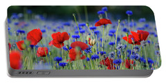 Portable Battery Charger featuring the photograph Summer Feeling Flowers by Kennerth and Birgitta Kullman