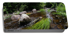 Portable Battery Charger featuring the photograph Summer Flow Of Water Near Rangeley Maine  -63322 by John Bald