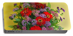 Portable Battery Charger featuring the photograph Summer Flower Bouquet by Byron Varvarigos