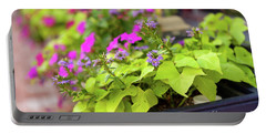 Summer Flowers In Window Box Portable Battery Charger