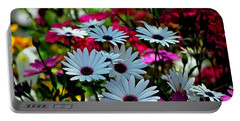 Summer Flowers Portable Battery Charger by Robert Meanor