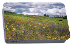 Portable Battery Charger featuring the photograph Summer Flowers by Tom Singleton