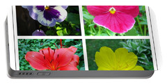 Summer Flowers Window Portable Battery Charger by Maciek Froncisz