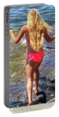 Portable Battery Charger featuring the photograph Summer Fun by Kathy Kelly