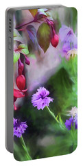 Summer Garden 1 Portable Battery Charger by Bonnie Bruno
