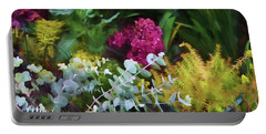 Summer Garden 4 Portable Battery Charger by Bonnie Bruno