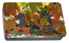 Portable Battery Charger featuring the photograph Summer Grapes by Bonnie Muir