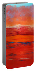 Portable Battery Charger featuring the painting Summer Heat 12 by M Diane Bonaparte