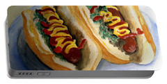 Summer Hot Dogs Portable Battery Charger