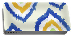 Summer Ikat- Art By Linda Woods Portable Battery Charger